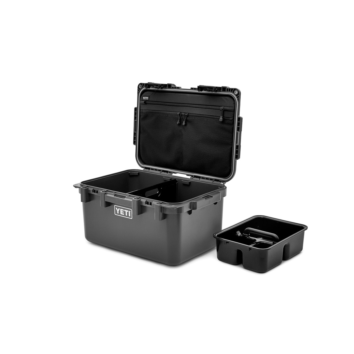 Picture of YETI LoadOut GoBox 26010000026 Gear Case, 30 L Capacity, Plastic, Charcoal