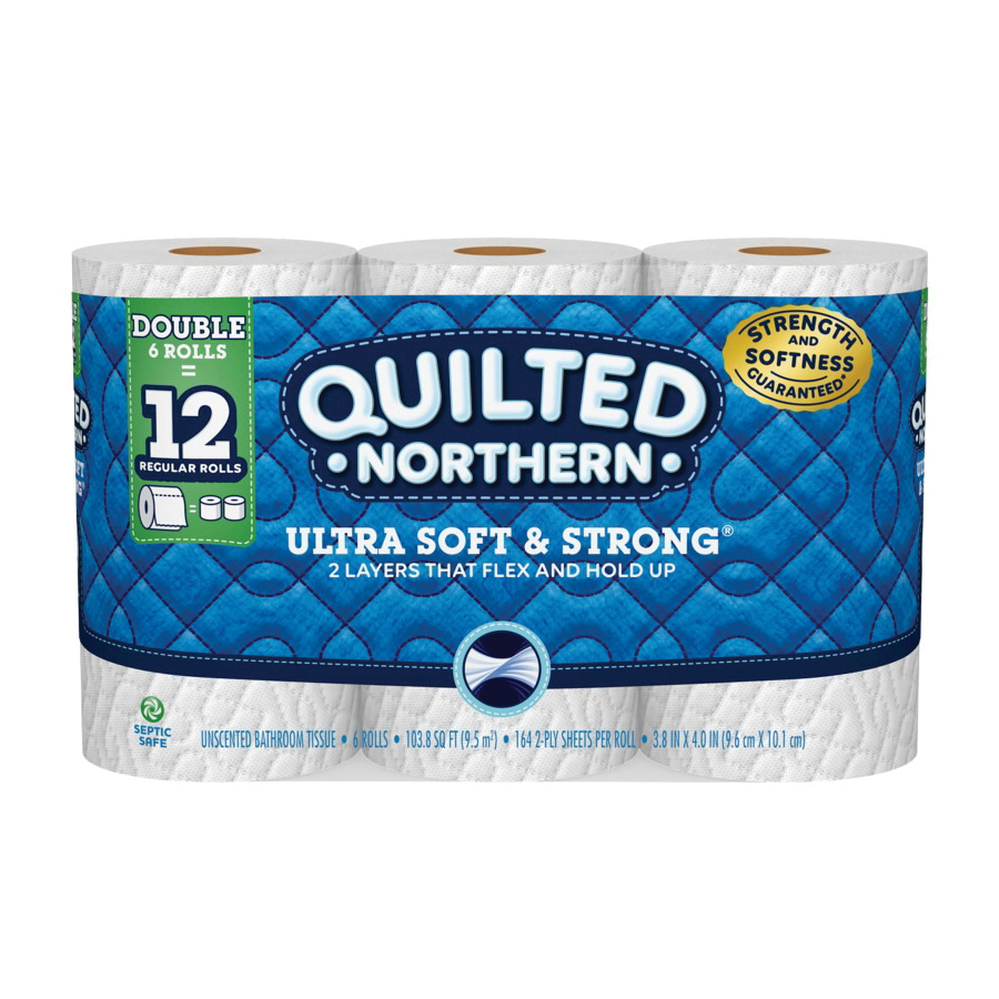 Picture of Quilted Northern 96362 Bathroom Tissue, 4 x 4 in Sheet, 2 -Ply, 6, Paper