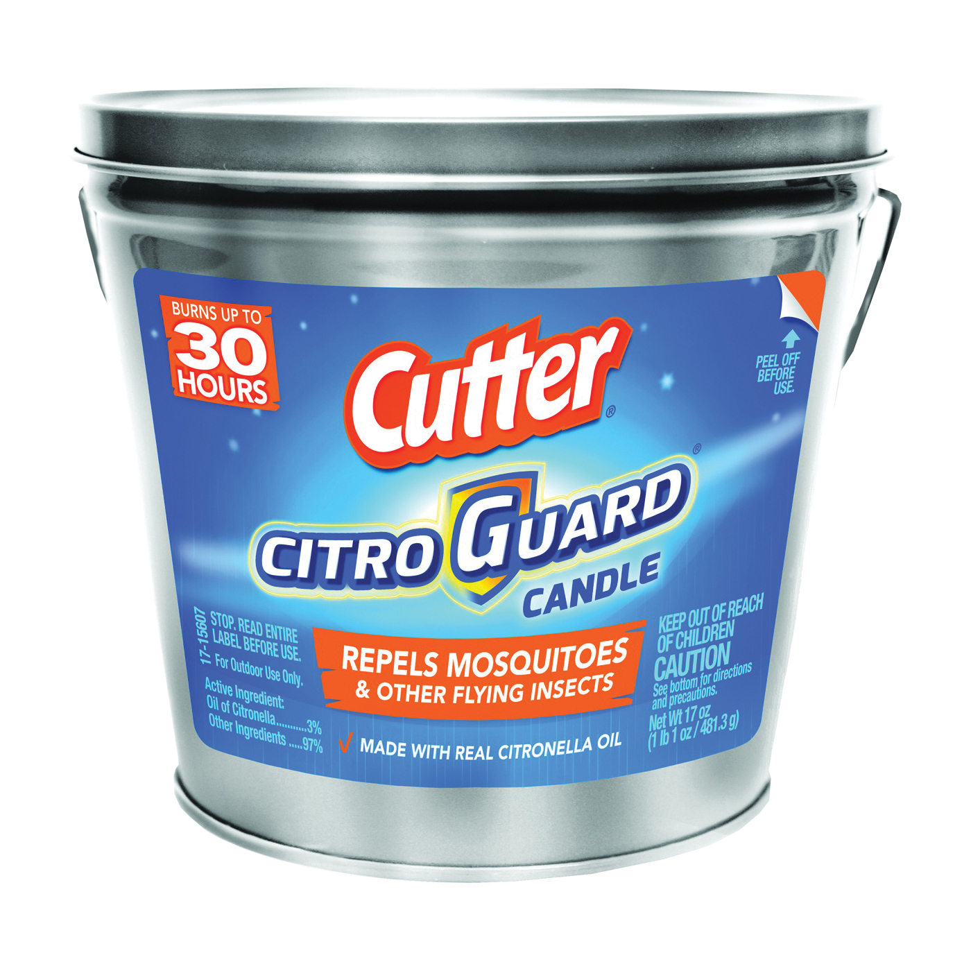 Picture of Cutter CITRO GUARD HG-96384 Insect Repellent Candle, Citronella, 17 oz Package, Bucket