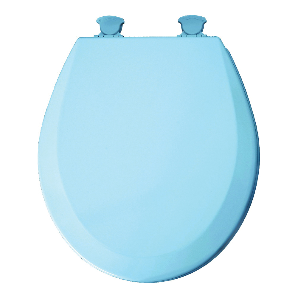 Picture of Mayfair 41EC-034 Toilet Seat, Round, Wood, Sky Blue, Twist Hinge