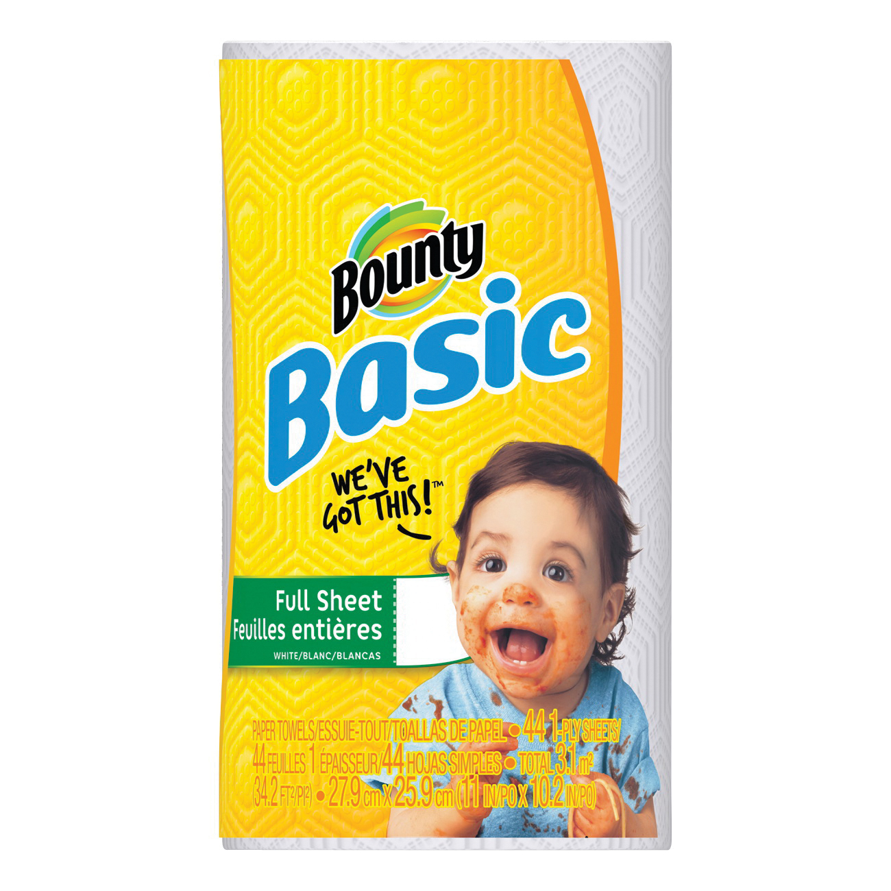 Picture of Bounty Essentials 92976 Paper Towel Roll, 1 -Ply, 30