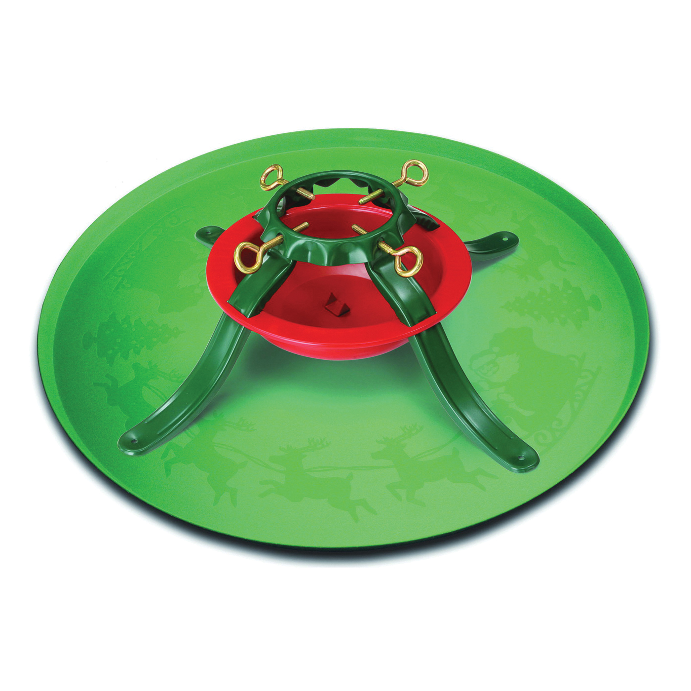 Picture of National Holidays HandiThings XTRA Tree Stand Tray, 28-1/2 in W, Plastic, Green