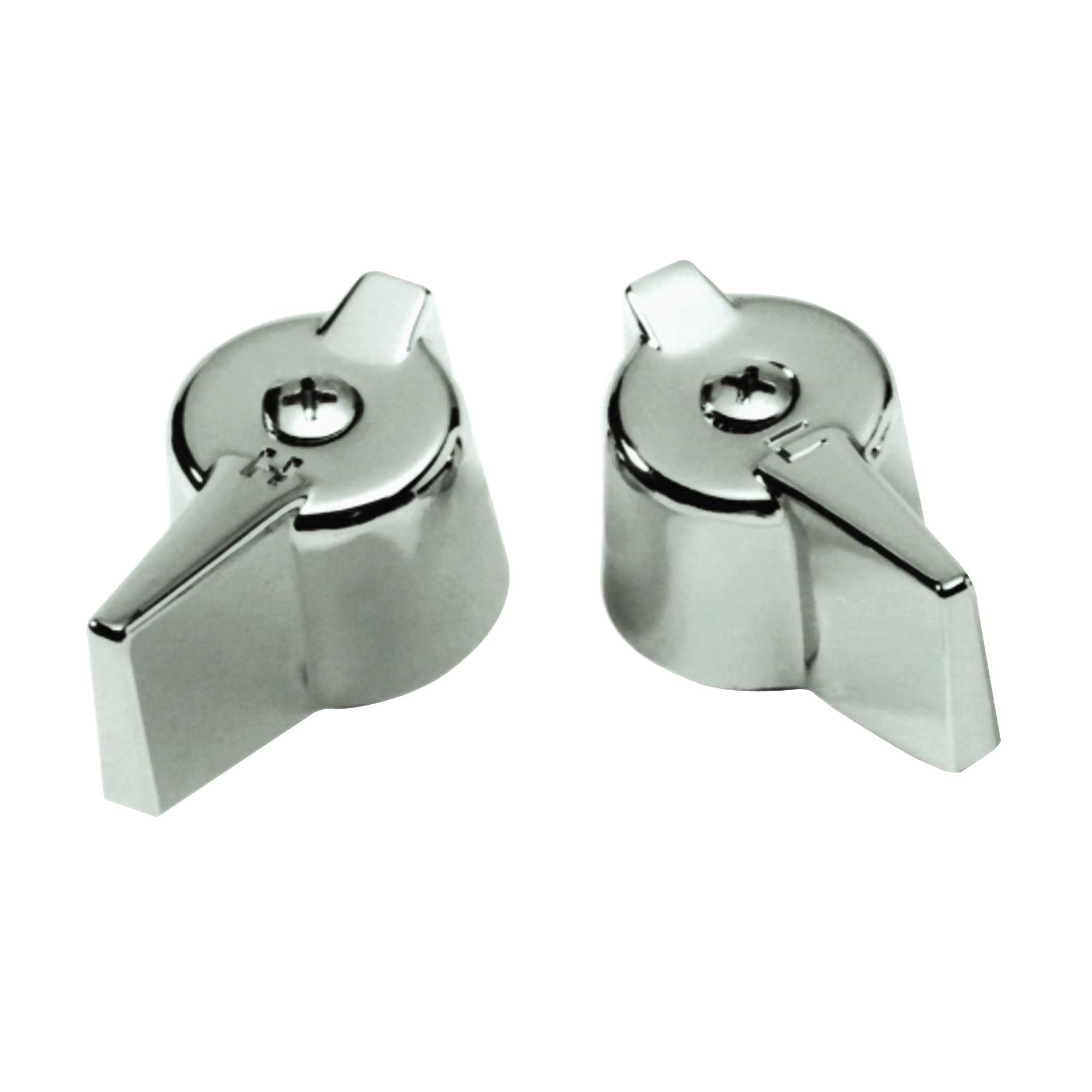 Picture of Danco 80681 Faucet Handle, Zinc, Chrome, For: Gerber Two-Handle Kitchen, Lavatory Faucets