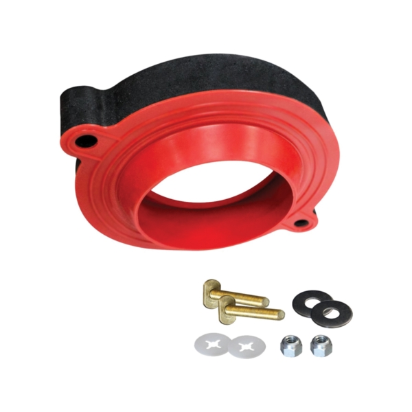 Picture of Korky 6000BP Toilet Seal Kit, Foam/Rubber, Red, Blister, For: 3 in and 4 in Drain Pipes