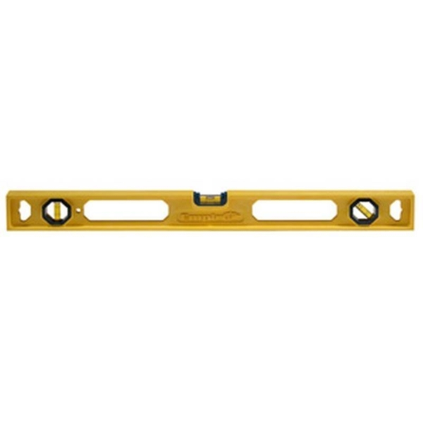 Picture of Empire POLYCAST 330-24 I-Beam Level, 24 in L, 3 -Vial, 1 -Hang Hole, Non-Magnetic, Polycast, Blue