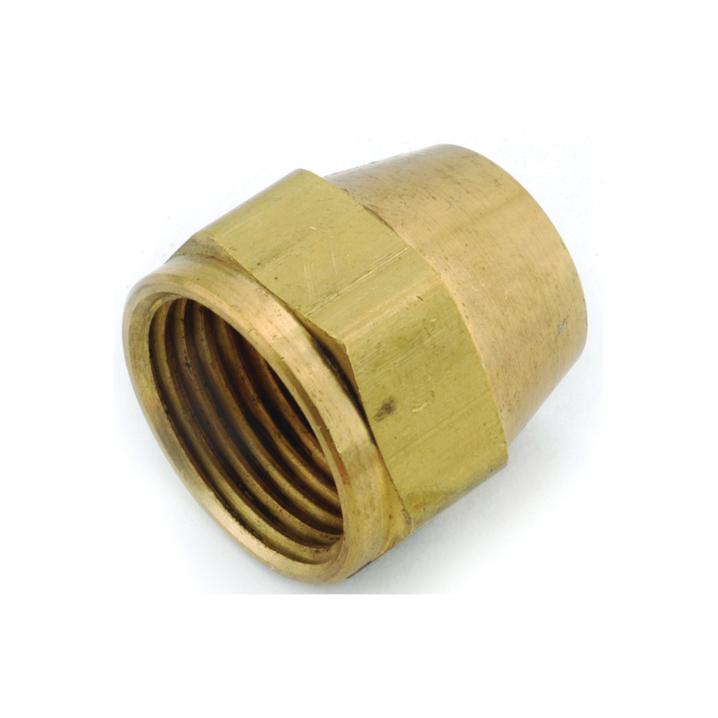 Picture of Anderson Metals 754014-08 Short Nut, 1/2 in, Flare, Brass