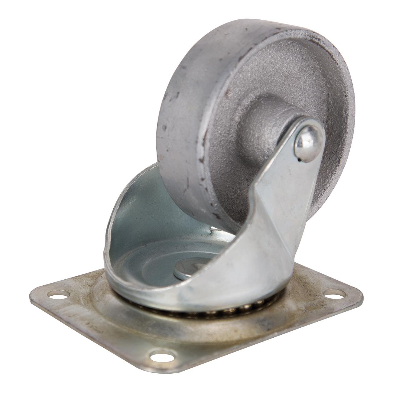 Picture of ProSource JC-S08 Swivel Caster, 4 in Dia Wheel, Steel Wheel, 500 lb