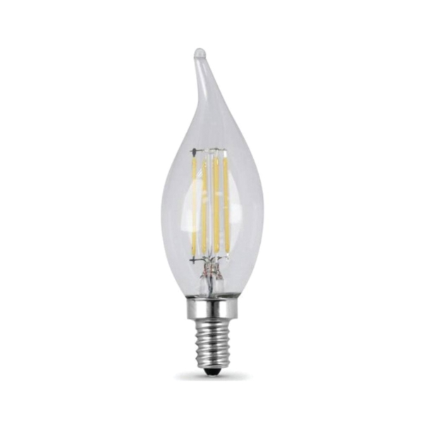 Picture of Feit Electric BPCFC25/827/LED/2 LED Lamp, 3 W, Candelabra E12 Lamp Base, Flame Tip Lamp, Soft White Light