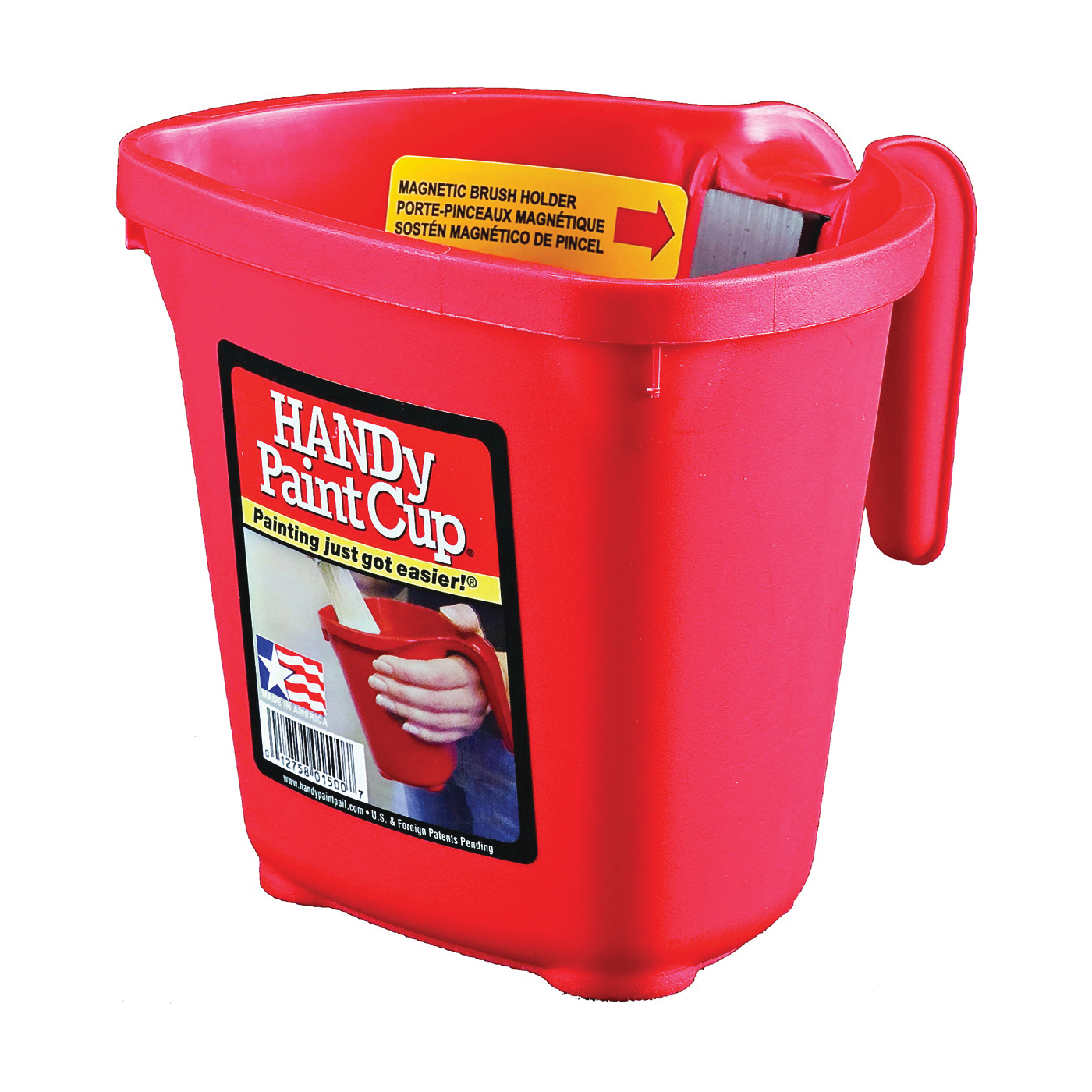 Picture of HANDy BER-1500-CT Handy Paint Cup, 1 pt Capacity, Plastic, Red