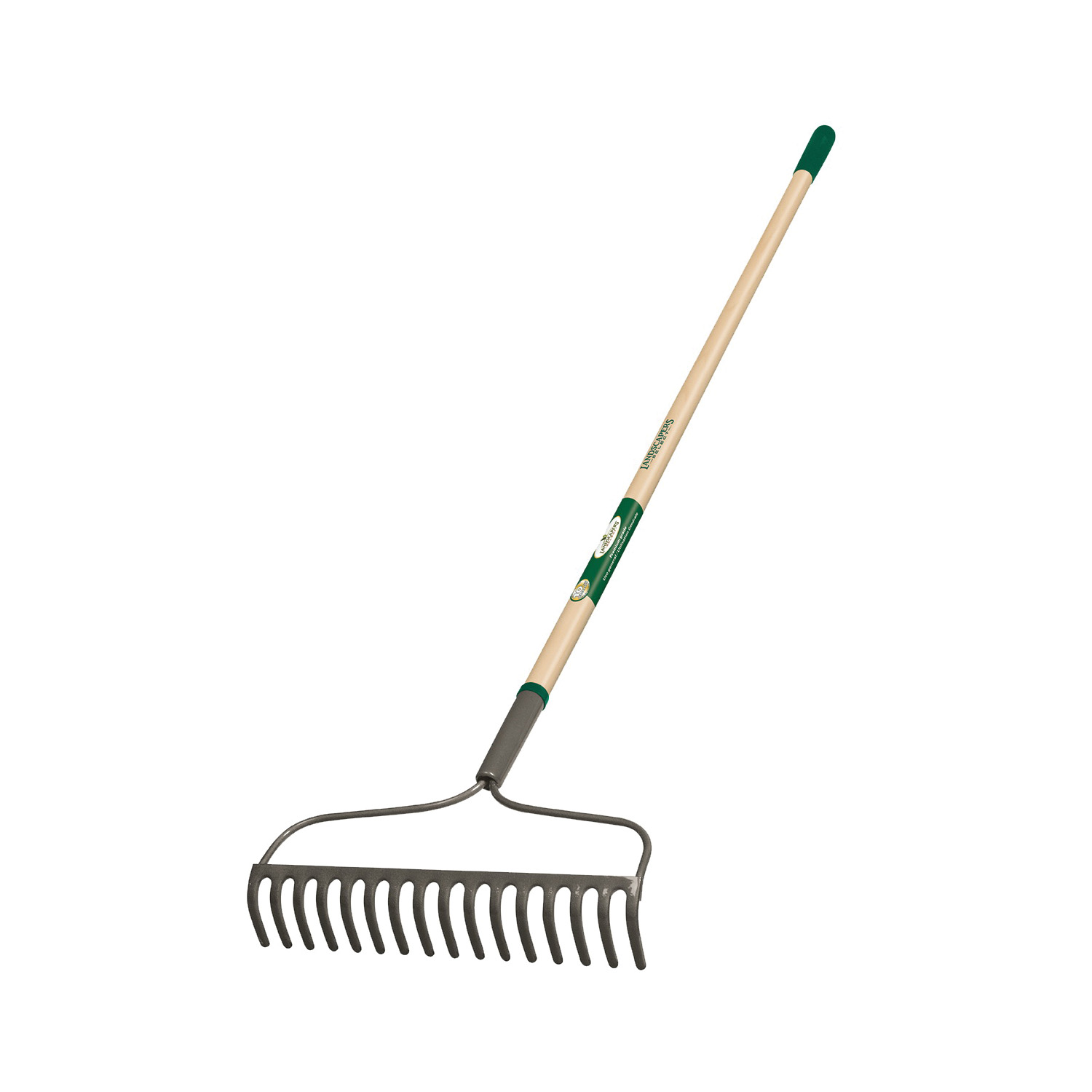 Picture of Landscapers Select 34582 Bow Rake, 16 in W Head, 16 -Tine, Steel Tine, 54 in L Handle
