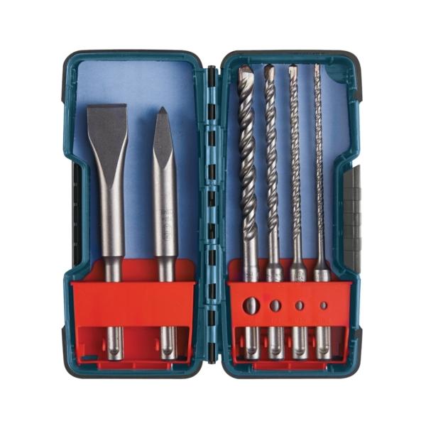 Picture of Bosch HCST006 Hammer Drill Bit Set, Rotary, 6 -Piece, Carbide