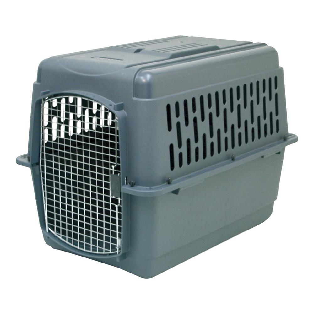 Picture of Aspenpet Pet Porter 21184 Pet Carrier, 40 in W, 27 in D, 30 in H, 2XL, Plastic, Black/Dark Gray, Chrome