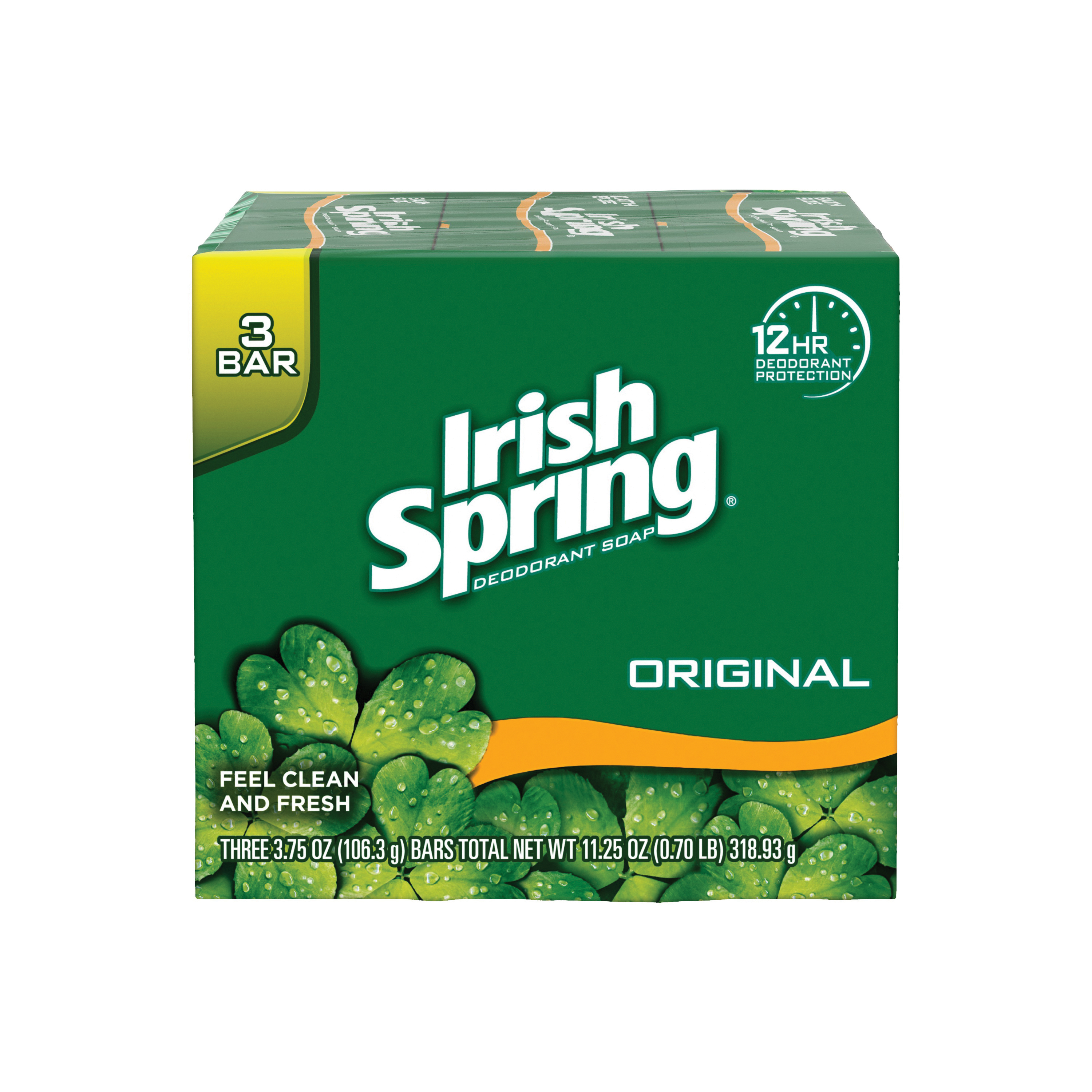 Picture of Irish Spring 14177 Bar Soap Green, Green, Clean Fresh, 3.75 oz Package