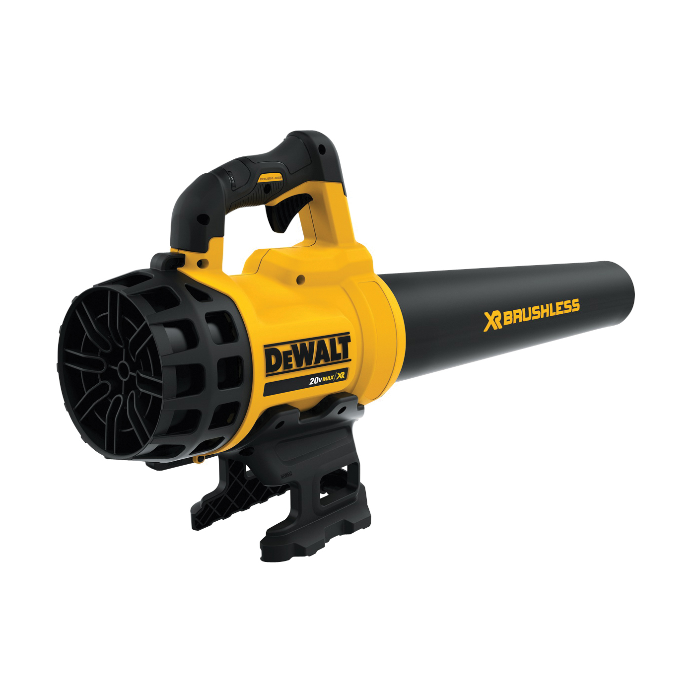 Picture of Black+Decker DCBL720B Brushless Handheld Blower, 5 Ah, 20 V Battery, Lithium-Ion Battery, 400 cfm Air, Black/Yellow