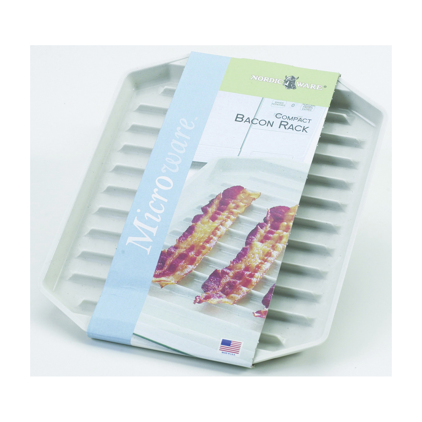 Picture of NORDIC WARE 60110 Microwave Oven Bacon Rack, Plastic