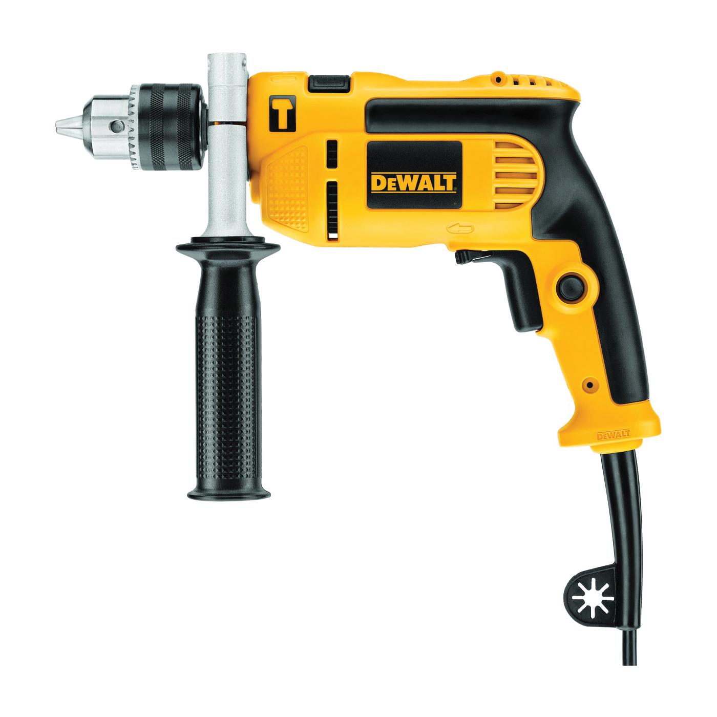 Picture of DeWALT DWE5010 Hammer Drill, 7 A, 550 W, 1-1/4 in Wood, 1/2 in Steel Drilling, 1/2 in Chuck, Keyed Chuck