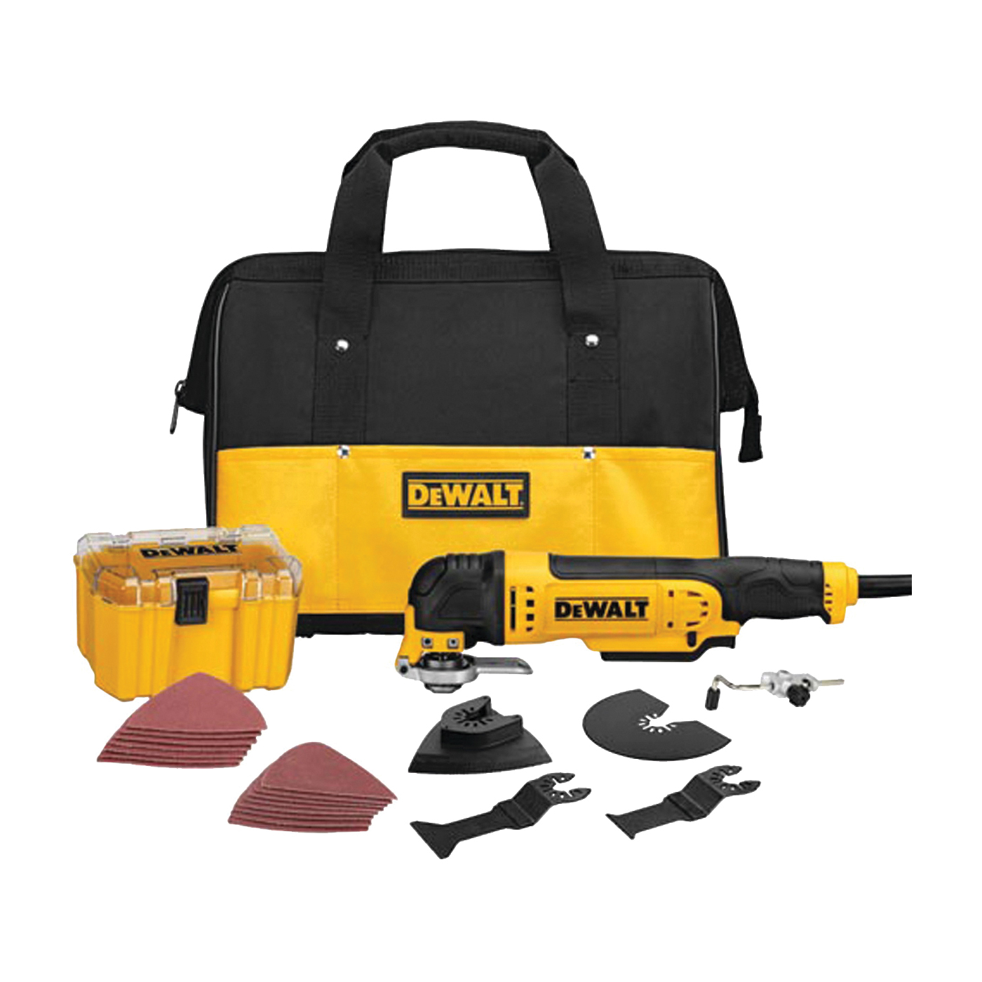 Picture of DeWALT DWE315K Oscillating Multi-Tool Kit, 3 A, 0 to 22,000 opm OPM, 1.6 deg Oscillating