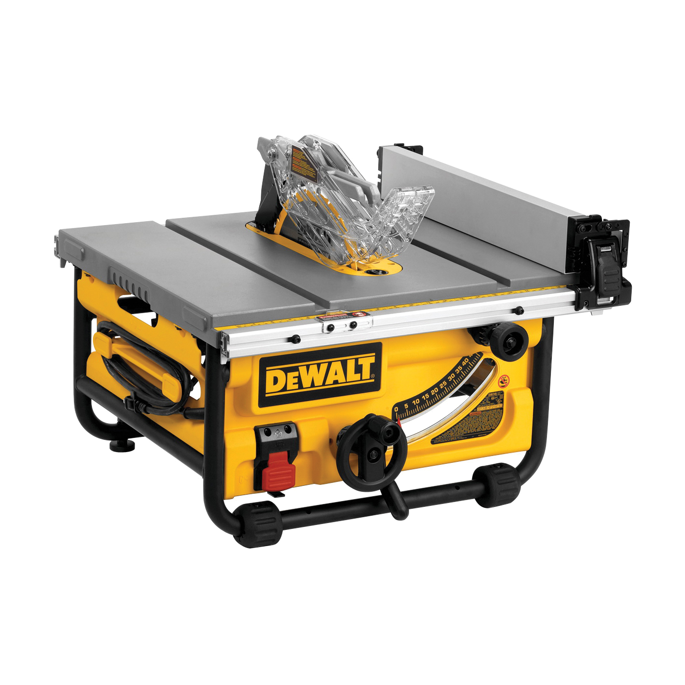 Picture of DeWALT DWE7480 Table Saw, 120 V, 15 A, 10 in Dia Blade, 5/8 in Arbor, 4800 rpm Speed