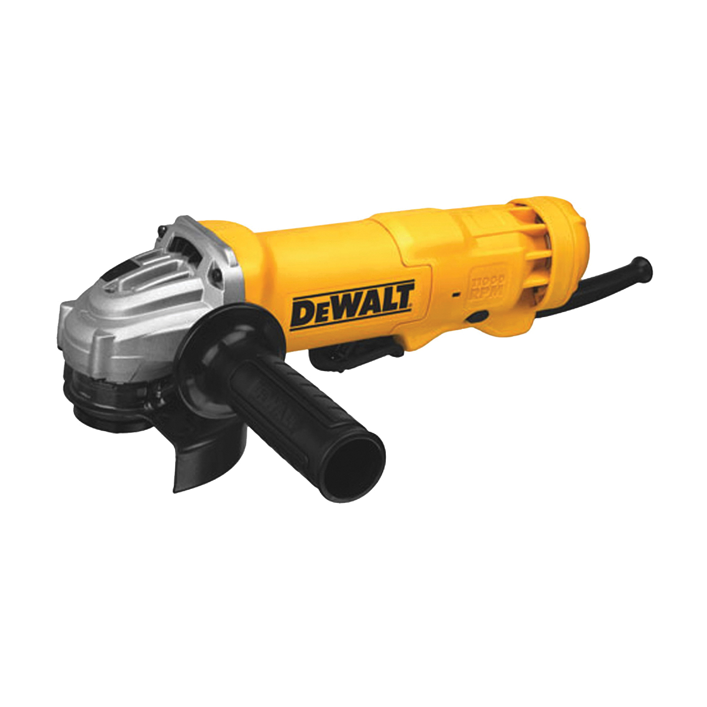 Picture of DeWALT DWE402 Corded Angle Grinder, Bare Tool, 120 V Battery, 5/8-11 Spindle, 4-1/2 in Dia Wheel, 11,000 rpm Speed