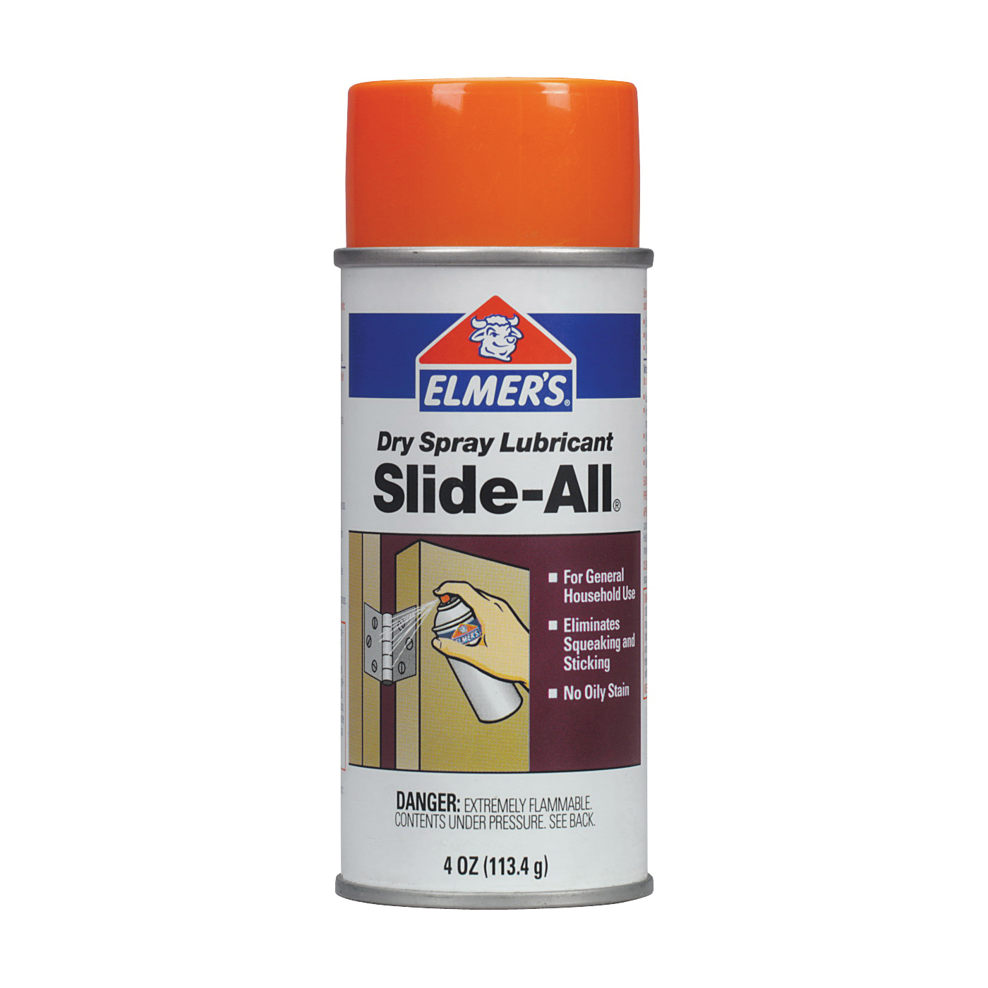 Picture of Elmers E-450 Lubricant, 4 oz Package, Aerosol Can, Powder, Mild Mint