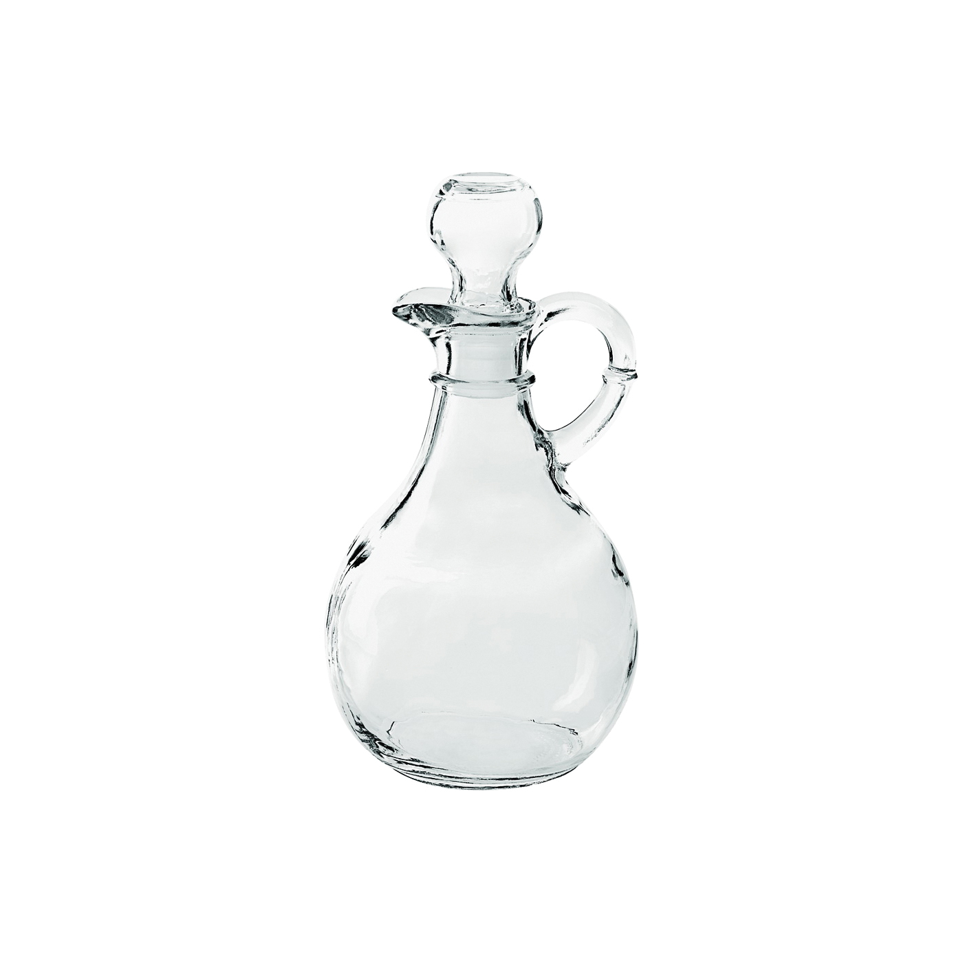 Picture of Anchor Hocking 980R Presence Cruet, 10 oz Capacity, Glass, Clear, 4-1/4 in L, 4-1/4 in W, 7 in H
