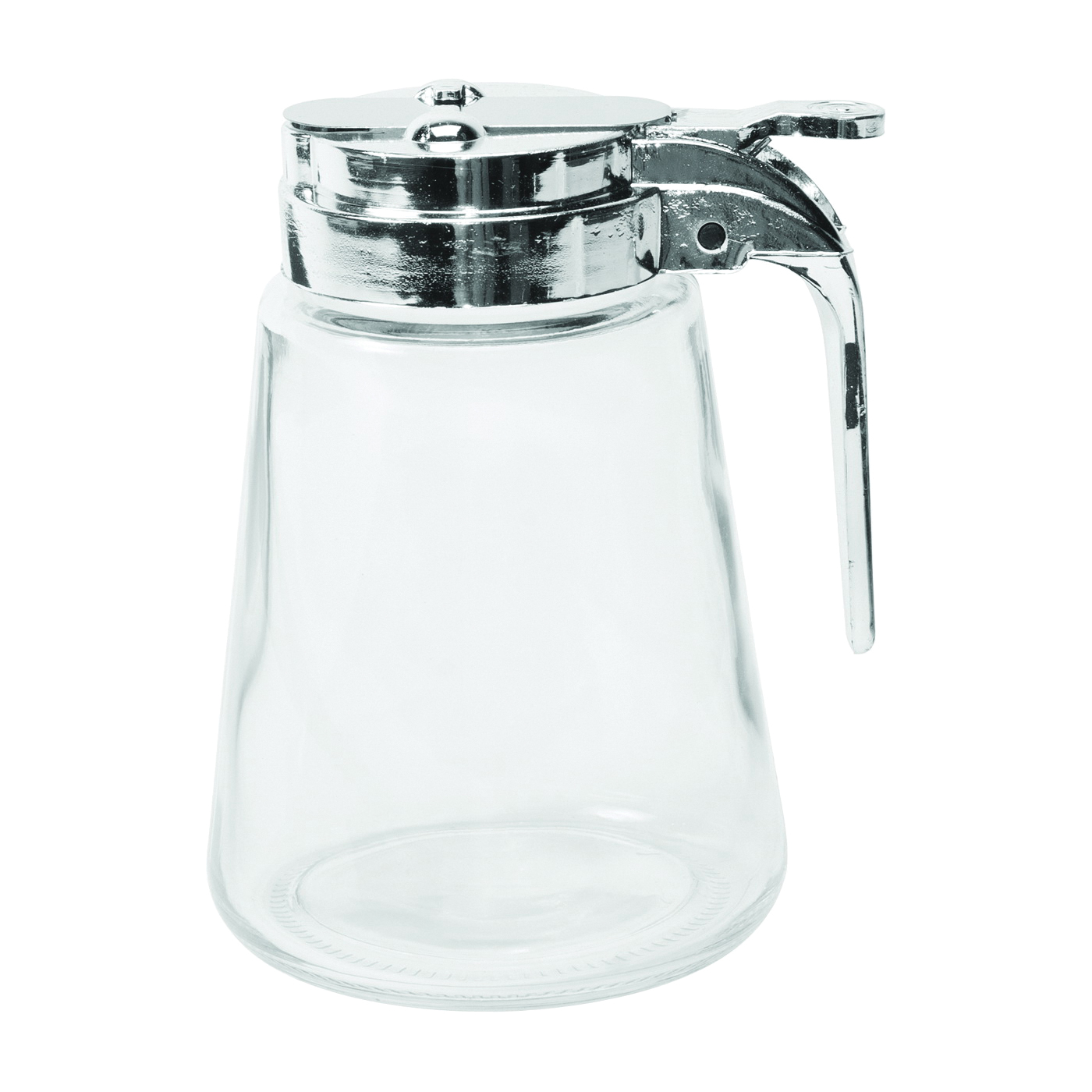 Picture of Oneida 97287 Syrup Pitcher, 8 oz Capacity, Glass/Stainless Steel, Clear