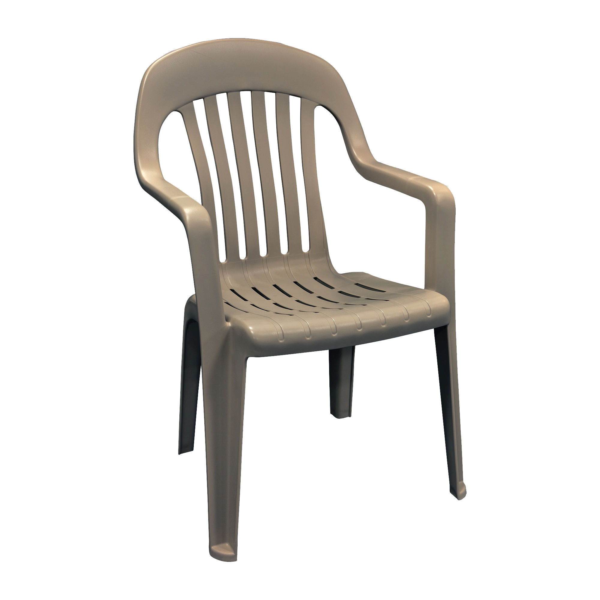 Picture of Adams 8254-96-3700 High-Back Chair, 22 in W, 23 in D, 36 in H, Polypropylene Frame, Brown Frame