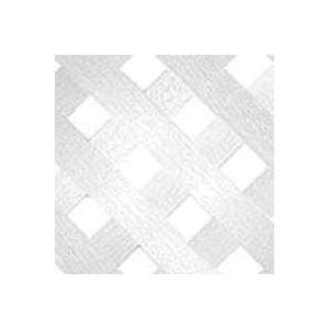 Picture of UPF 70698 Privacy Diamond Lattice, 8 ft L, 4 ft H, 2-3/4 in Mesh, Plastic, White