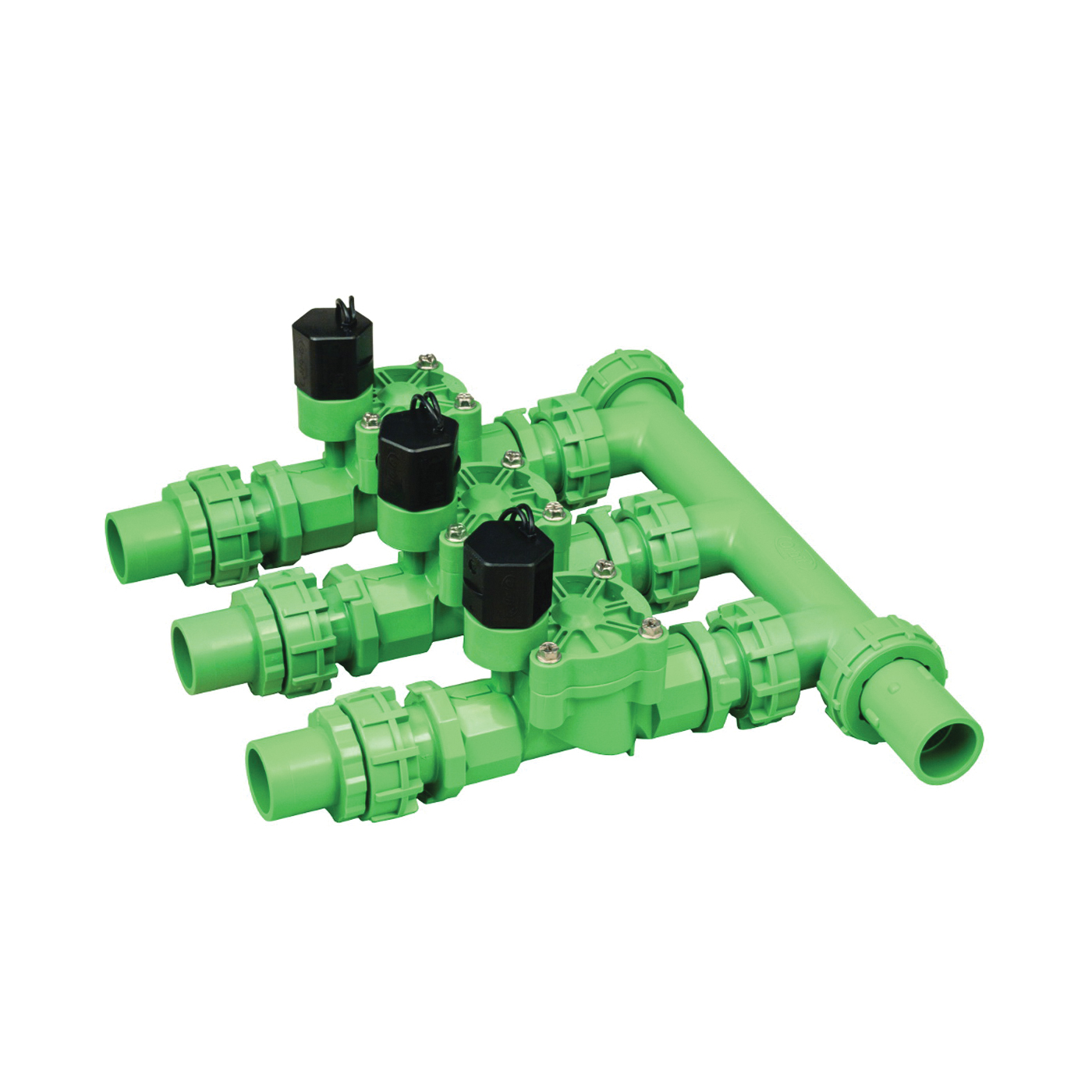 Picture of Orbit 57253 Pre-Assembled Manifold, 3 -Port, Plastic