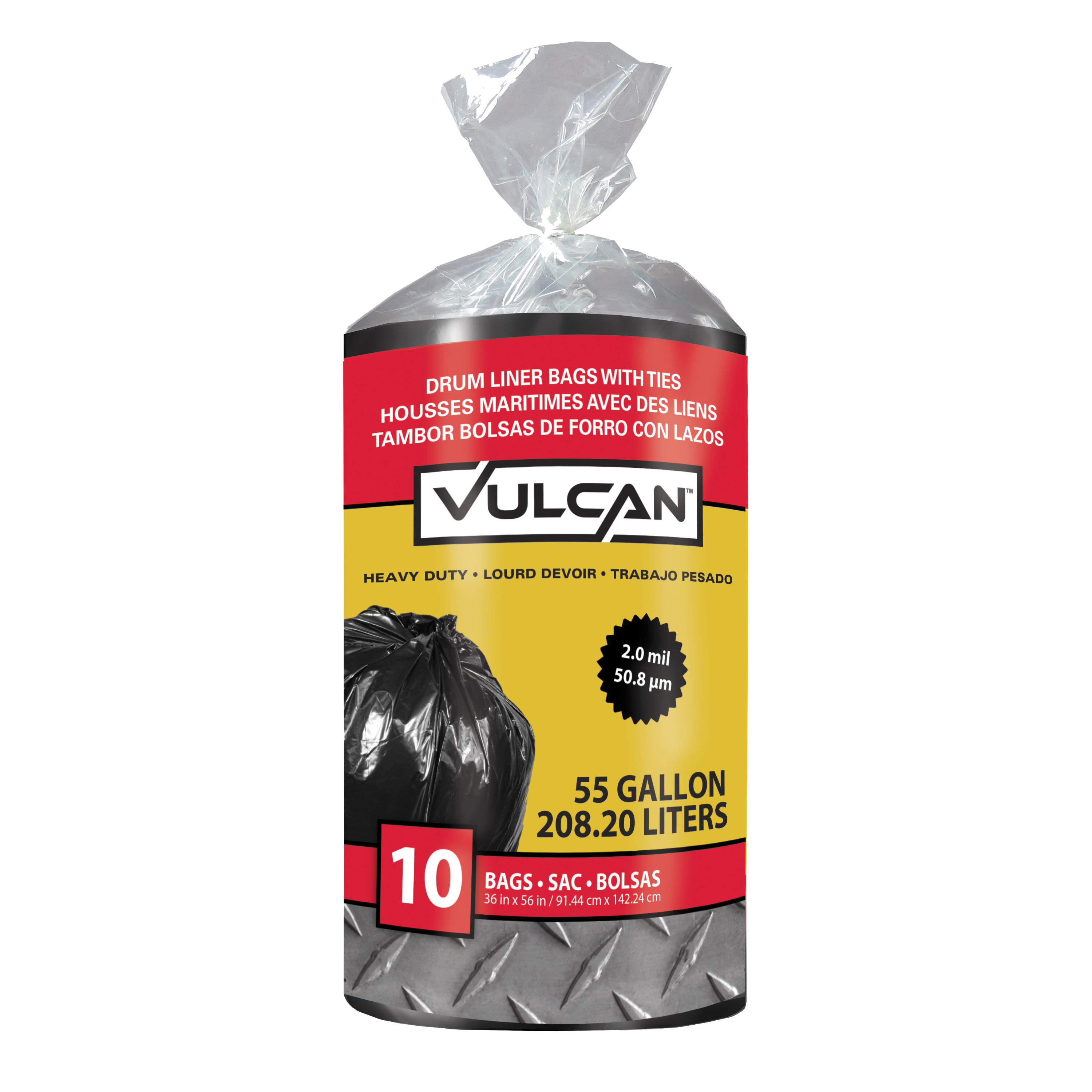 Picture of VULCAN FG-03812-09 Drum Liner, 55 gal Capacity, Poly, Black