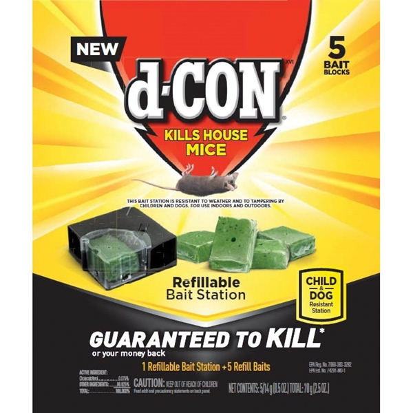 Picture of d-CON 98665 Bait Station Refill, Solid