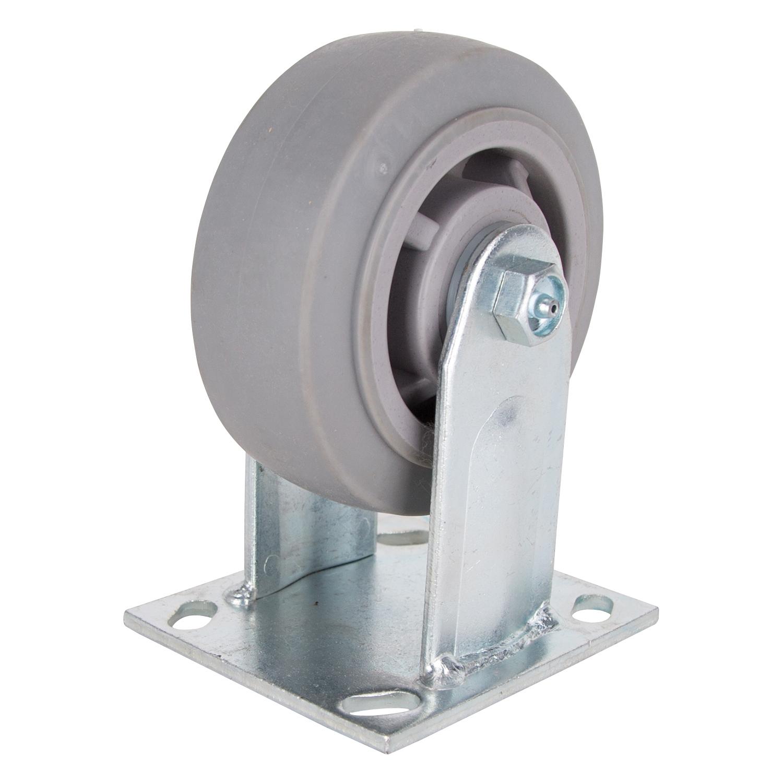 Picture of ProSource JC-T03 Rigid Caster, 5 in Dia Wheel, 2 in W Wheel, Thermoplastic Rubber Wheel, 450 lb