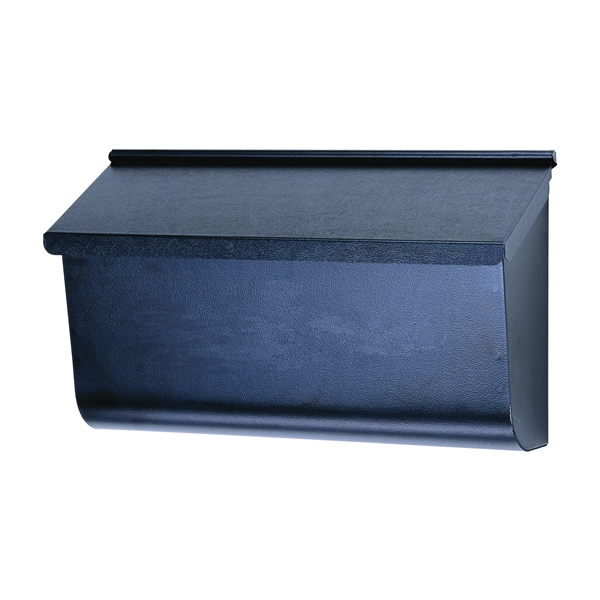 Picture of Gibraltar Mailboxes Woodlands L4010WB0 Mailbox, 450 cu-in Capacity, Galvanized Steel, Textured Powder-Coated, Black