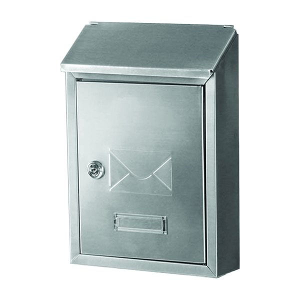 Picture of Gibraltar Mailboxes Ashley AWM00SS0 Mailbox, 220 cu-in Capacity, Stainless Steel, Gray, 8.4 in W, 2.8 in D