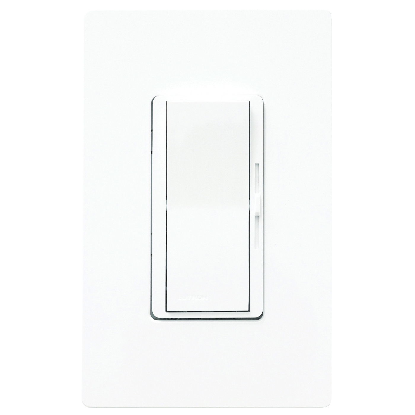 Picture of Lutron Diva DVW-603PH-WH Dimmer, 5 A, 120 V, 600 W, Incandescent Lamp, 3-Way, White