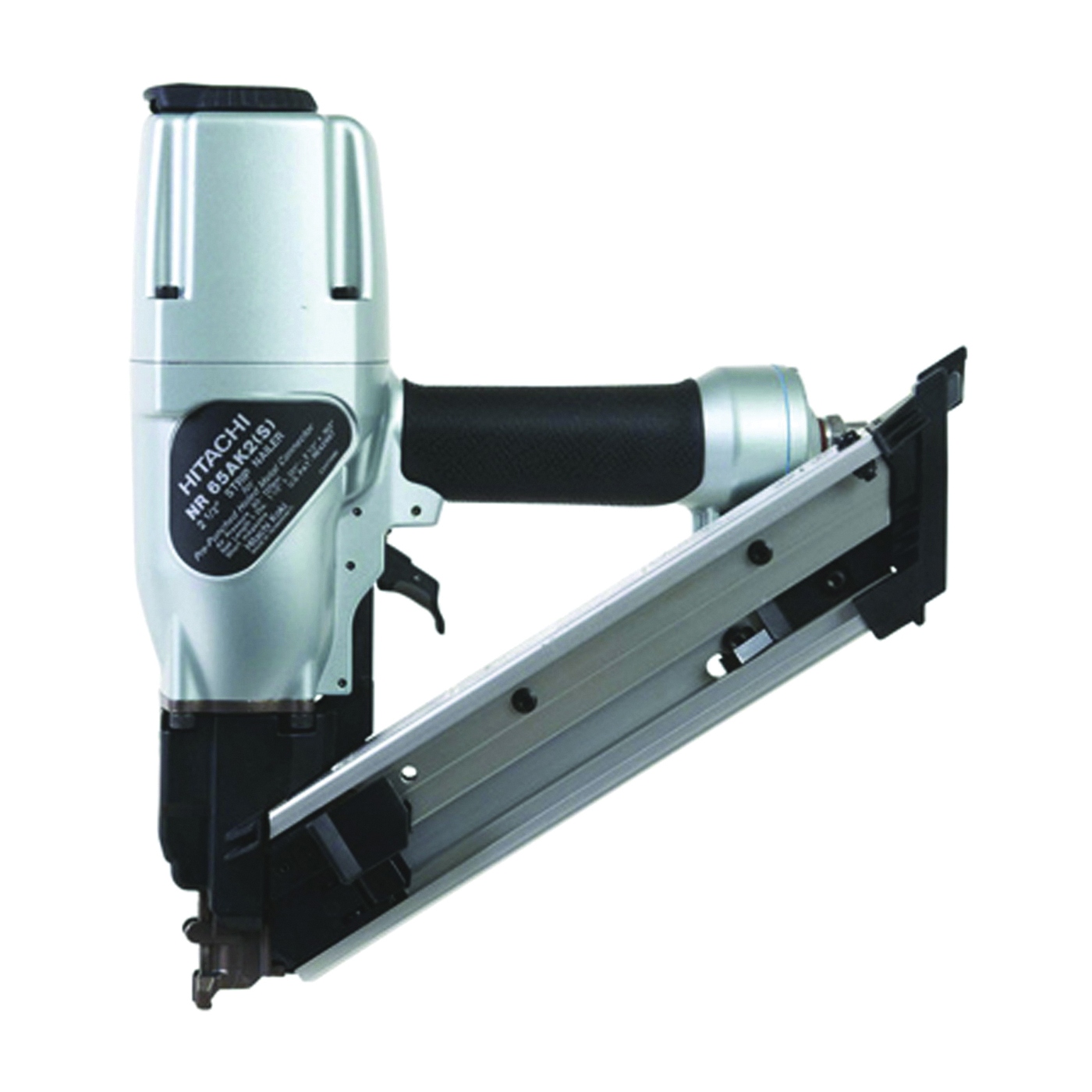 Picture of HITACHI NR65AK2(S) Strip Nailer, 22 Magazine, 36 deg Collation, Paper Tape Collation, 0.063 cu-ft/Cycle Air