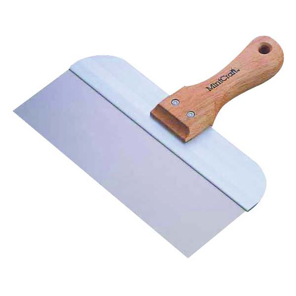 Picture of Vulcan 36051 Taping Knife, 8 in W Blade, 3 in L Blade, Stainless Steel Blade, Tapered Blade, Wood Handle