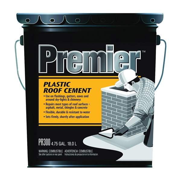 Picture of Henry PR300070 Plastic Roof Cement, Liquid, Paste, Petrol, Black, 4.75 gal Package