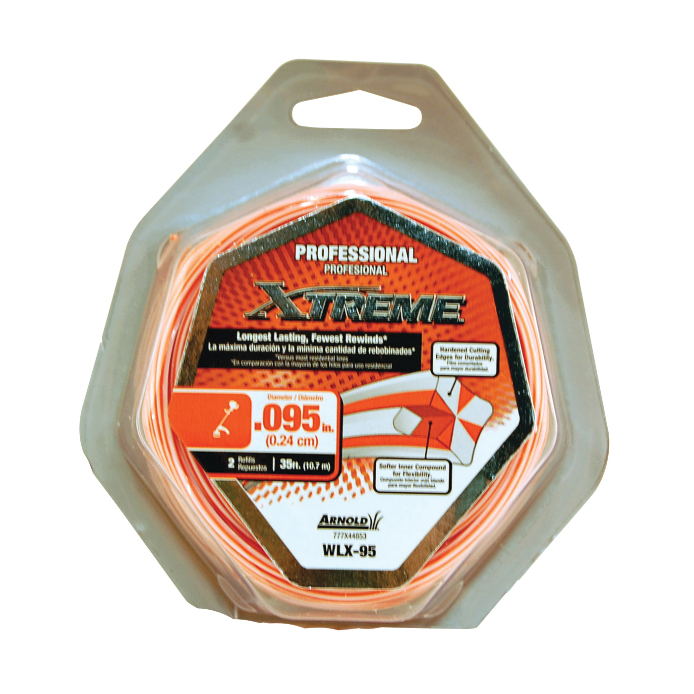 Picture of Arnold Xtreme Professional WLX-95 Trimmer Line, 0.095 in Dia, 40 ft L, Monofilament