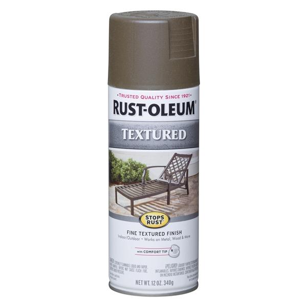 Picture of RUST-OLEUM STOPS RUST 7226830 Textured Spray Bronze, Solvent-Like, Bronze, 12 oz, Aerosol Can