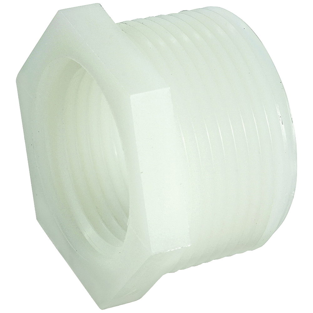Picture of Anderson Metals 53610-0806 Pipe Reducing Bushing, 1/2 x 3/8 in, Male x Female Thread, 150 psi Pressure