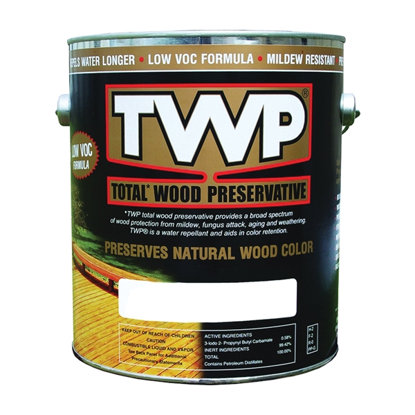Picture of TWP 1500 Series TWP-1504-1 Stain and Wood Preservative, Black/Walnut, Liquid, 1 gal