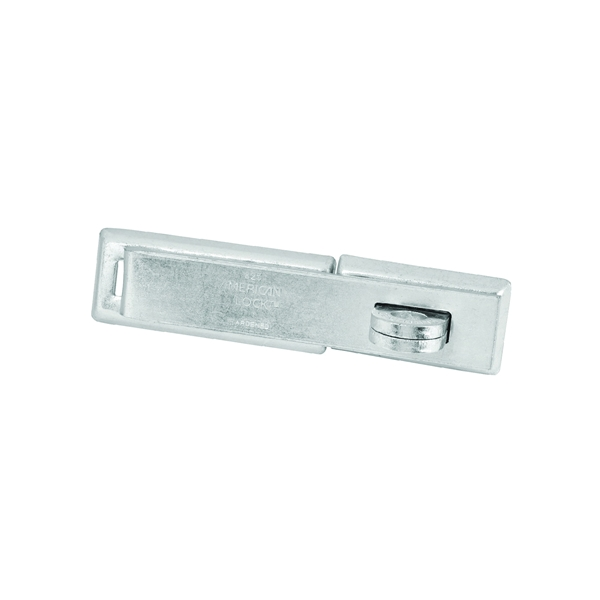 Picture of American Lock A825D Hasp Lock, 7-1/4 in L, 1-5/8 in W, Steel, Zinc, 7/16 in Dia Shackle