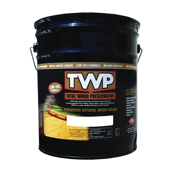 Picture of TWP 1500 Series TWP-1520-5 Stain and Wood Preservative, Pecan, Liquid, 5 gal