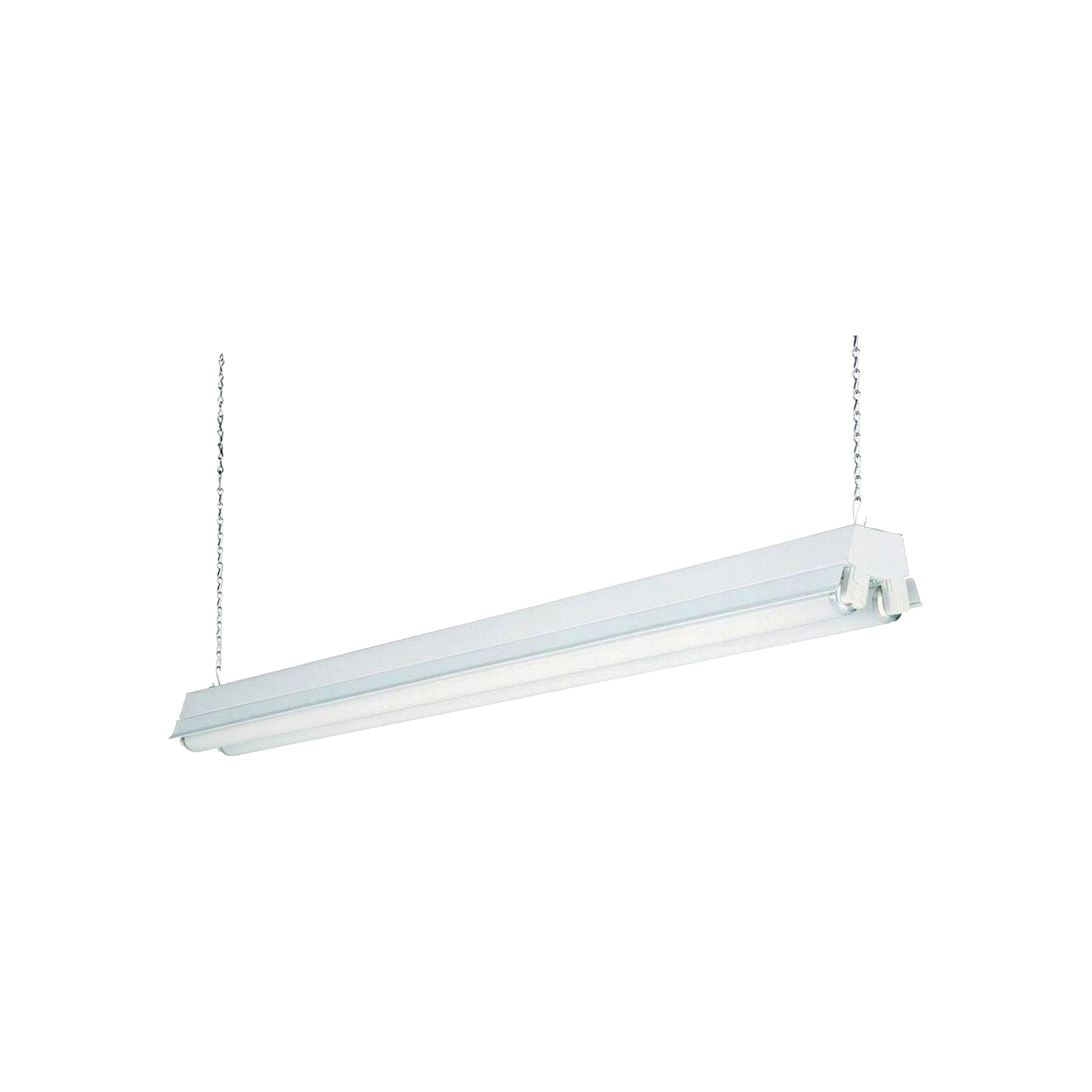 Picture of LITHONIA LIGHTING 1233/147YPY Shop Light, 120 V, 32 W, 2-Lamp, Fluorescent Lamp, Steel Fixture, White