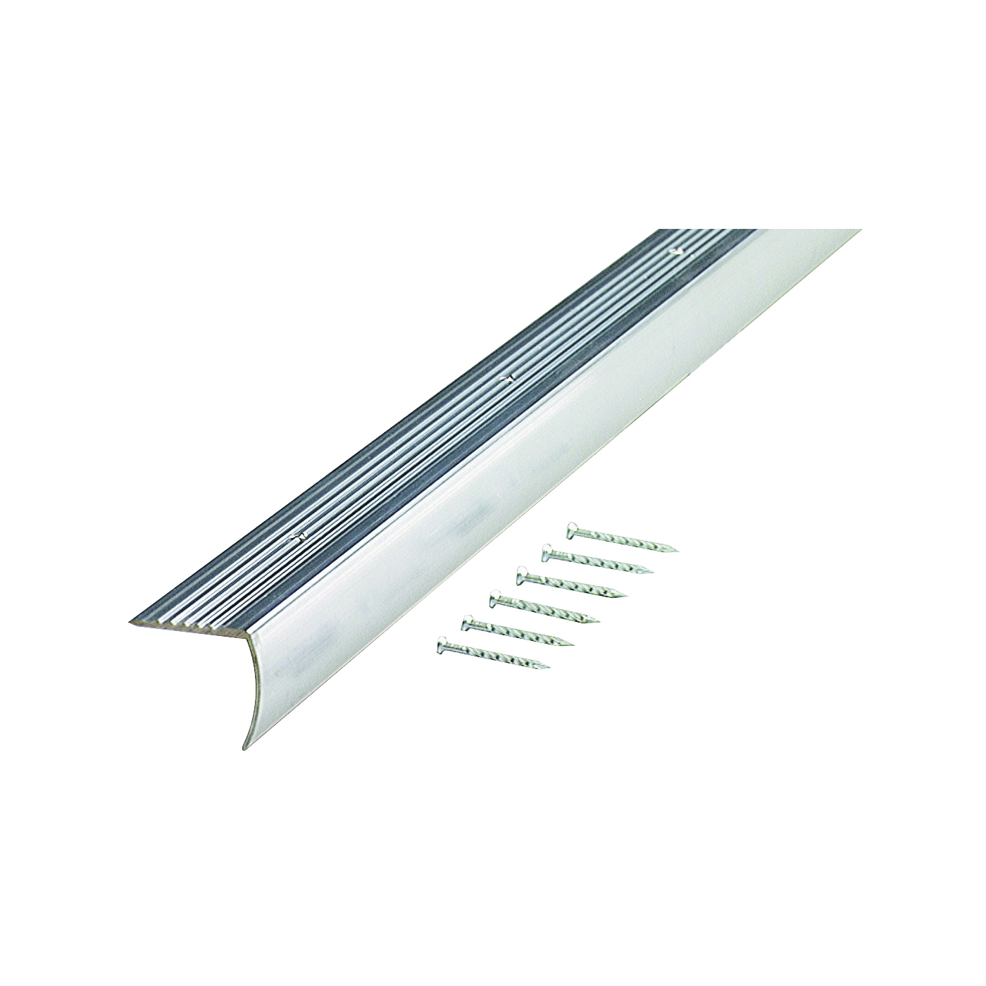Picture of M-D 66266 Stair Edging, 75 in L, 1.28 in W, Aluminum