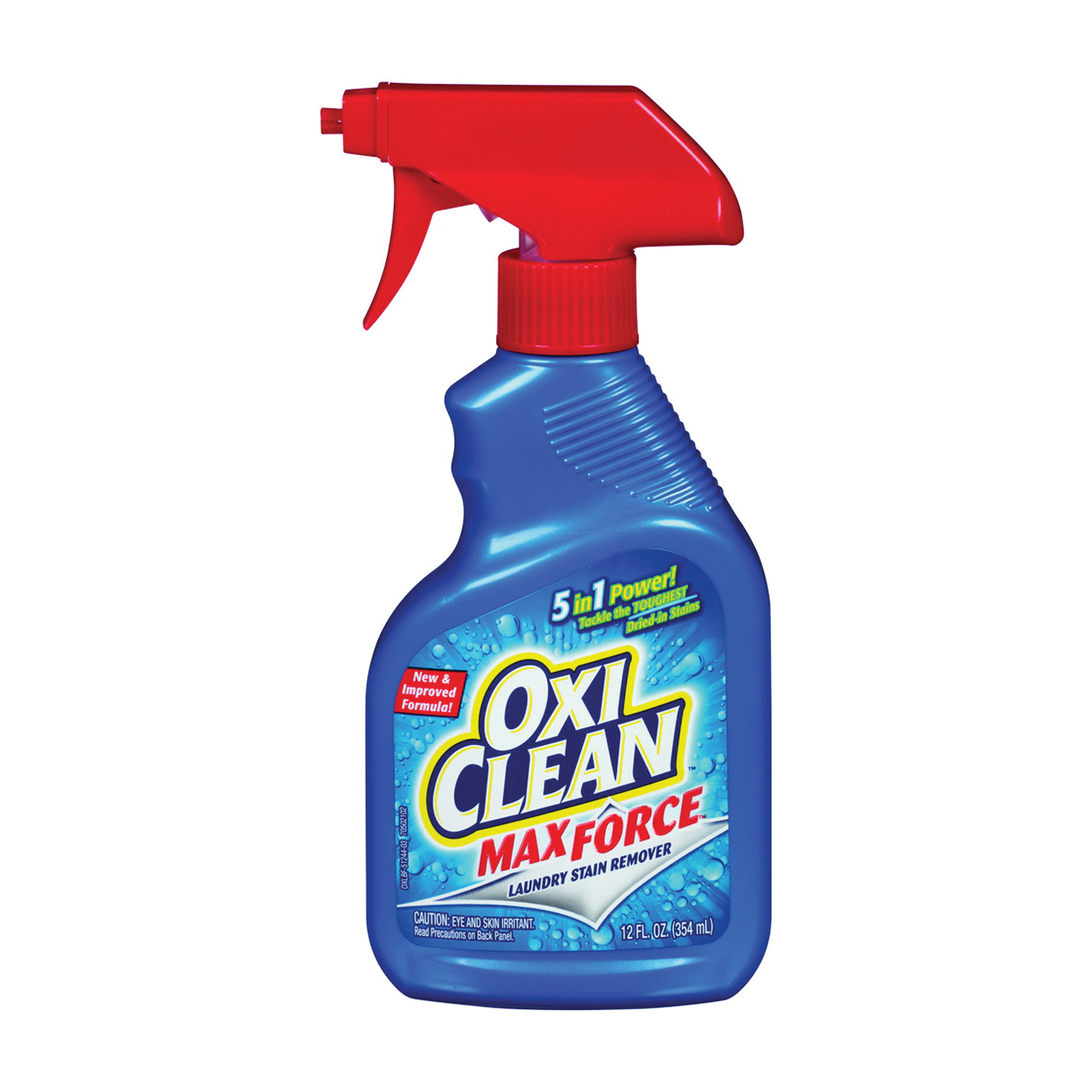 Picture of OXICLEAN Max Force 51244 Stain Remover, 12 oz Package, Bottle, Liquid, Opaque White