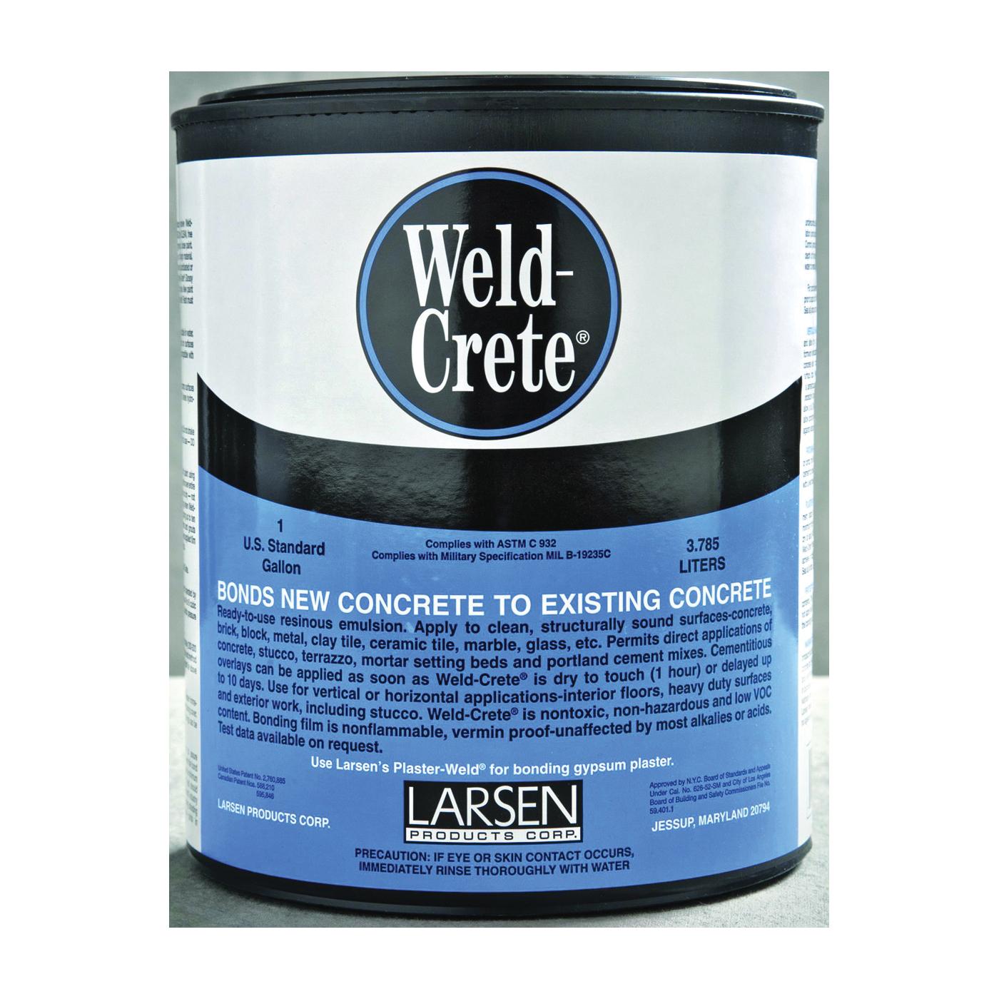 Picture of Larsen Weld-Crete WCG04 Bonding Agent, Liquid, Low to Slight Acetic, Blue, 1 gal Package, Pail