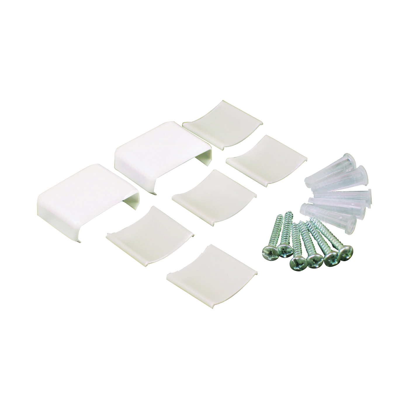 Picture of Legrand Wiremold NMW910 Raceway Accessory Pack, Metallic, Plastic, White, For: NM1 Wire Channels