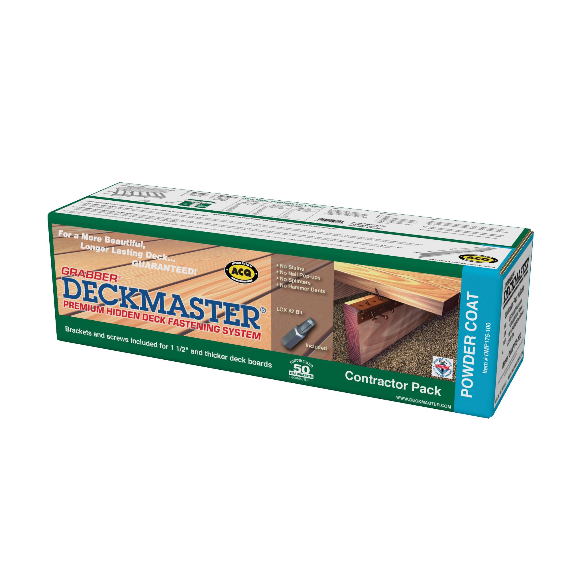 Picture of Grabber Construction Deckmaster DMP175-100 Hidden Bracket, Powder-Coated
